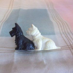 Vintage Plastic Scottie Dog Pin Great Britain